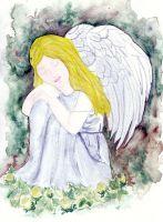 Engel und Blumen