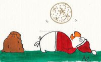 Santa with Christmas glitter ball