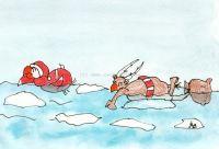 Santa nadador