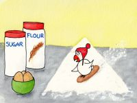 Surfing on the flour