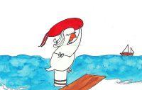 Pinup a la orilla del mar