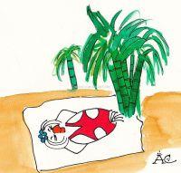 Pinup en la playa